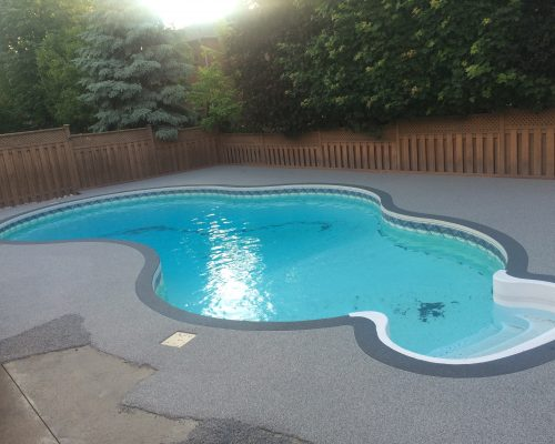 Rubber Stone Pool Deck